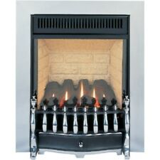 The Environ Flueless Gas Fire in Aluminium, by Burley