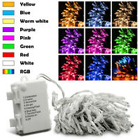 10M 100LED Battery Christmas Tree Fairy String Party Lights Lamp Xmas Waterproof