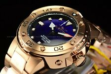 Invicta Men's 49mm Pro Diver Grand Scuba Rose Gold Blue Dial Automatic SS Watch