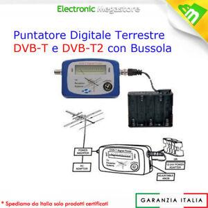 STRUMENTO MISURATORE DI SEGNALE TV DIGITALE TERRESTRE CON BUSSOLA 55_9395