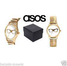 Nuevo Asos Damas Mujeres especificaciones Oro Cristal Expandible los relojes de pulsera