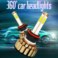 2X 9005 HB3 260W 48000LM COB LED Phare de Voiture Conversion Ampoule Feu Blanc