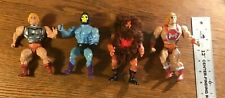 "1980's He-Man Action Figures 4 LOT 5"" to 6"" - 2 He-Man, 1 Skeletor, 1 Grizzlor"