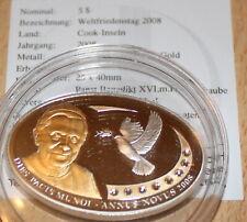 5 Dollar Cook Island silber 2008 Vatikan Weltfriedenstag