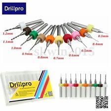 Drillpro 10PC Carbure Foret Fraises Perçage Perceuse 0.3-1.2mm Pr PCB CNC Bijoux