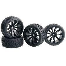 RC HSP 601-8001 Tires & Wheel, D:65mm, W:26mm, Rim hex:12mm For 1:10 On-Road Car
