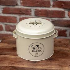 Bioabfallbehälter, Komposter mit Aktivkohlefilter, Küchenkomposter, creme