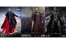 "Hot Toys Superman Man of Steel Jor-El, Kal-El, General Zod 12"" Figures Set of 3"