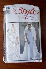 Vintage Sewing Pattern Style 2066 Wedding Dress Sizes 8-18 Uncut & Folded