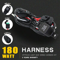 180W LED Car Driving Light Wiring Harness Relay Kit for ON/OFF Switch Off Road