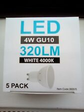 LyvEco LED GU10 240v 320LM 4000k Natural White Pack 5 = 4w Nautral White