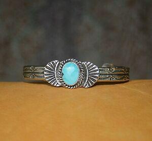 Harvy Era Looking  S & Kingman Turquoise Cuff Bracelet by Garret Hale!
