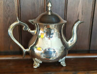 Good Vintage EPNS Silver Plated Teapot with Engraved Decoration