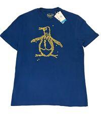 Penguin Original Men's T Shirt - Colour: True Blue - Size: Large