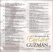 rare POP Rock BALADA CD sleeve ENRIQUE GUZMAN La plaga POPOTITOS rock de  carcel