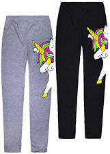 Girls Unicorn Leggings Kids Party Full Length Trousers Pants Ages 2 - 13 Years