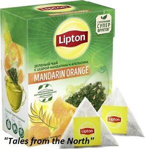 LIPTON Mandarin Orange Green Tea with citrus zest, 20 pyramids  х 1,8g