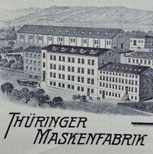 ALTE RECHNUNG MANEBACH THÜRINGEN MASKENFABRIK HEINTZ & KÜHN    VON 1921