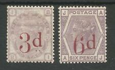 SG159 & SG163 THE 1883 QV 3d on 3d & 6d on 6d MOUNTED MINT CAT £1325