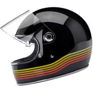 Biltwell Gringo S - DOT / ECE Helmet - Gloss Black Spectrum - CHOOSE SIZE