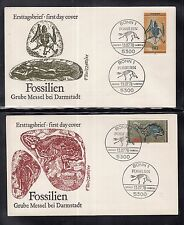 A 111 ) Germany 1978 beautiful FDC - Fossils Messel Prehistoric Horse, Bat