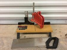 VINTAGE  CRAFTSMAN MITER BOX & BACK SAW Table Hand