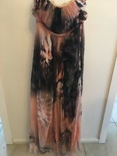 Seduce Evening Dress Size 10 Charcoal And Peach