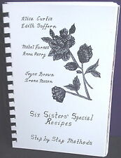 Six Sisters' Special Recipes, Step by Step Methods, 1988 Comb Binding, Canada