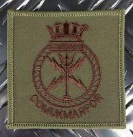Genuine British Army ROYAL MARINES COMMANDO - COMUKMARFOR Patch / Badge - NEW