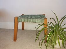 Vintage Retro Woven Rattan Small Wicker Foot stool