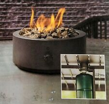 """New listing 10"""" Round Metal Outdoor Lp Tabletop Fire Pit Black (New in Box)"""