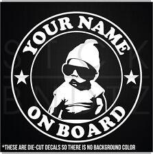 CUSTOM BABY CARLOS HANGOVER CUTE ON BOARD USA FUNNY DECAL STICKER MACBOOK CAR