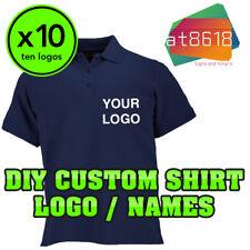 10x DIY Custom Shirt Logo Personalised - Logos T-Shirts - Printed Company Name
