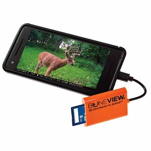 BoneView Trail Camera Viewer SD Card Reader - Type-C & Micro USB Android Phones