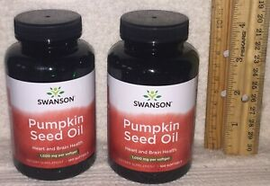 TWO, Pumpkin Seed Oil, from Swanson.  200 softgels (total), 1000 mg each