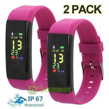 2Bluetooth Smart Watch Bracelet Heart Rate Monitor Sport Fitness Tracker Fit-bit