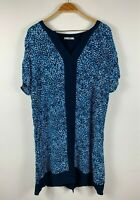 Regatta Womens Dress Size 18 Blue Paisley Tunic Dress Relaxed Fit