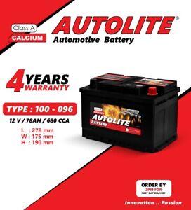 GALAXY FOCUS DIESEL CAR BATTERY 096 100 78AH 12V SMF HEAVY DUTY DEL NEXT DAY