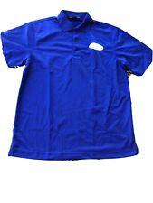 Port Authority Mens Blue Polo Shirt Size Medium With 3 Button Collar Ashworth