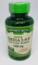 Nature's Truth Triple Omega 3-6-9 Fish. Flax, Borage Quick Release 200 Softgel