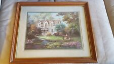 "Lee K. Parkinson ""Country Living"" framed and matted print 1989"