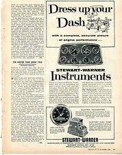 1956 Stewart Warner Instruments Dress Up Your Dash Speedometer Tach & Gauges Ad