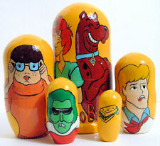 5pcs Handpainted Russian Nesting Doll of Scooby Doo Large