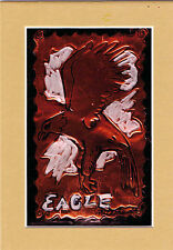 """""""EAGLE""""by RUTH FREEMAN EMBOSSED COPPER FOIL 5"""" X 7"""" WITH MAT"""