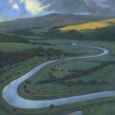 BELLISSIMO ORIGINALE Mark Harrison WHITE HORSE Cuckmere Valley pittura ad olio