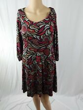 Tiana B Size M Floral Casual Sweater Shift Dress Business Dinner Work Light Knit