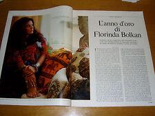FLORINDA BOLKAN attrice vintage clipping articolo foto photo 1971