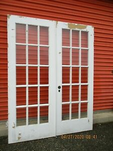 """INTERIOR FRENCH DOORS 15 PANES GLASS 5 FT X 78"""" CAN SHIP!!!!"""