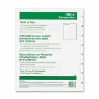 Avery Black-and White Table Of Content Tab Dividers - Printed1 - 8 - 8