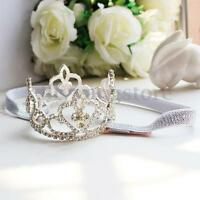 Toddler Girls Baby Rhinestone Crown Headbands Princess Tiara Photography